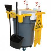 View: 9W87 BRUTE Rim Caddy for 2643 waste receptacles.